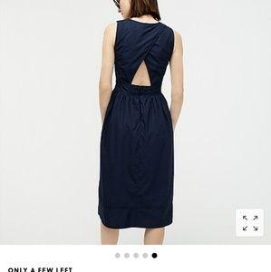 J.crew brand new navy cotton dress